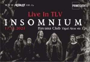 Концерт финской группы Insomnium в Израиле