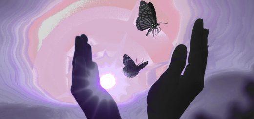 Пастели Ниссима Аллони. «Невеста и ловец бабочек»